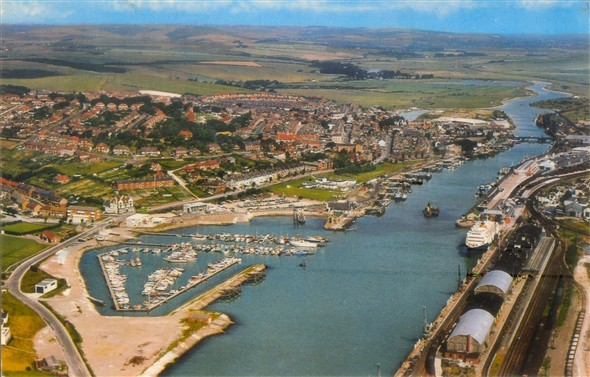 Photo:Aerial View of Newhaven Harbour