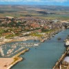 Page link: AERIAL VIEW OF THE HARBOUR AND TOWN