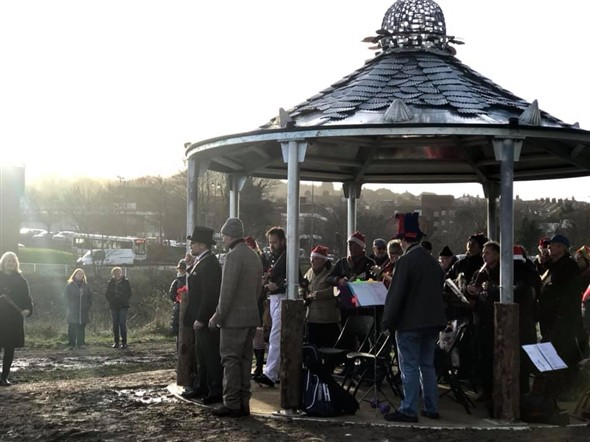 Photo: Illustrative image for the 'NEW BANDSTAND IN USE' page