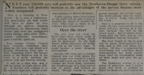 Photo:1963 press cutting confirming the council's original plans