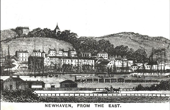 Photo:Looking from the east c 1855