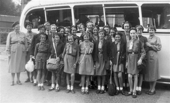 Photo:Off to camp 1955-taken in Murray Avenue.