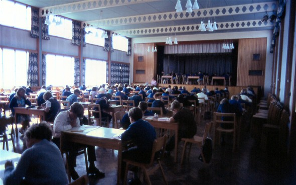 Photo:Exams in the main school hall.