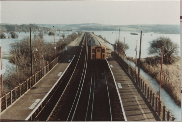 Photo:View from Southease station bridge looking towards Newhaven