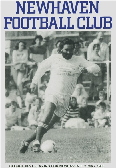 Photo:George Best playing for Newhaven Select 8th May 1988