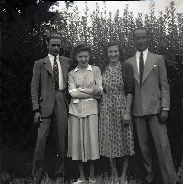 Photo:Photo 5: Marcia Stapley [3rd from left]; others unknown. early 1950s