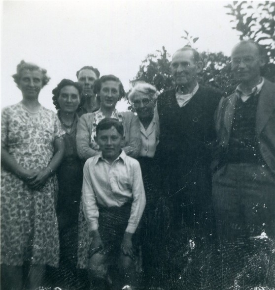 Photo:Photo 3: of the 8 people, I can only identify Marcia Stapley [4th from left]. Circa early 1950s