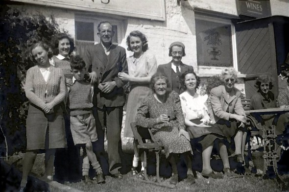 Photo:No. 1: Taken at the Rose Cottage Inn, Alciston, circa 1947