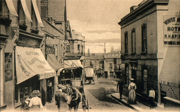 Photo:White Hart / High Street - c1900