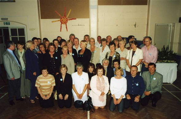 Photo:School reunion at the Hillcrest Community Centre (also our old school)