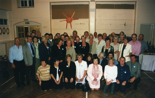 Photo:Ex pupils of Newhaven County Secondary School (Tideway) enjoy a reunion in 2000