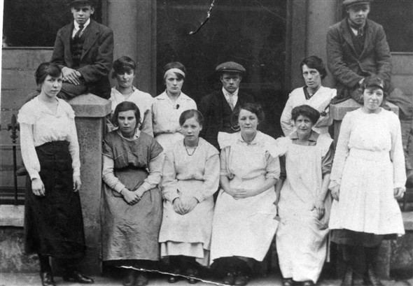 Photo:The staff of Downs Laundry.