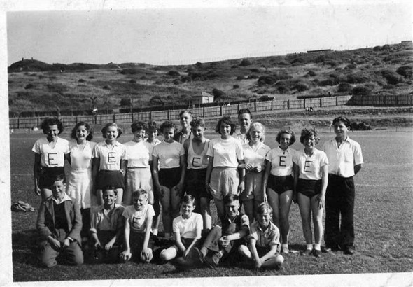 Photo:Back Row left to right: Ivy Fitzroy: Sybil Allen: Joan Ladd: ?: ?; Peggy Sanders: John Knoakes: David Lambert: ?: Brian Greenfield: ? : ?: Penny Trimby: Colin Hughes; front row; ?; Harold Evans: ?: ?; Colin Holden; Micheal Willey