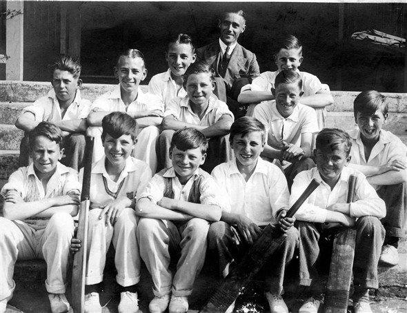 Photo:Fred Moon second row, far left.  Does anyone recognise the other boys?