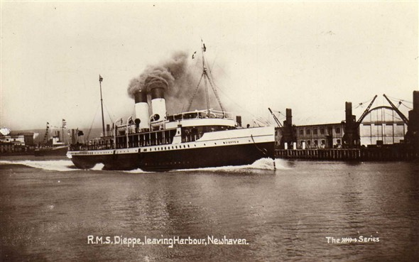 Photo:The Dieppe 1905-1933, after leaving Newhaven she was converted to a yacht and renamed Rosaura.