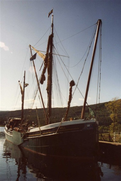 Photo:August 1984. This time at the locks, Fort  Augustus in Scotland.