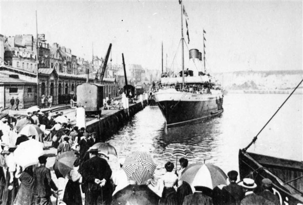 Photo:S.S Arundel at Dieppe.