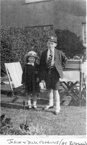 Photo:Josie and Dick Collins at Rodmell, in Convent uniform