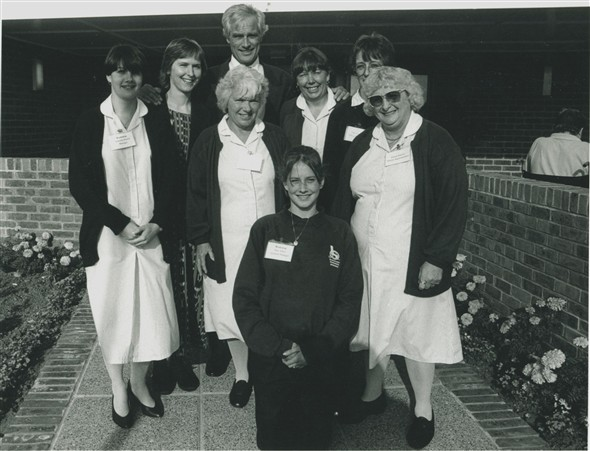Photo:Kilroy Silk and some Searchlight staff - c1992