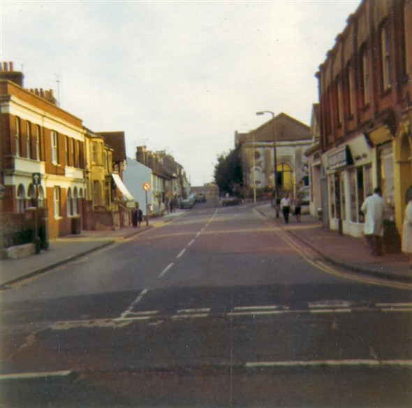 Photo:Looking along Meeching Road