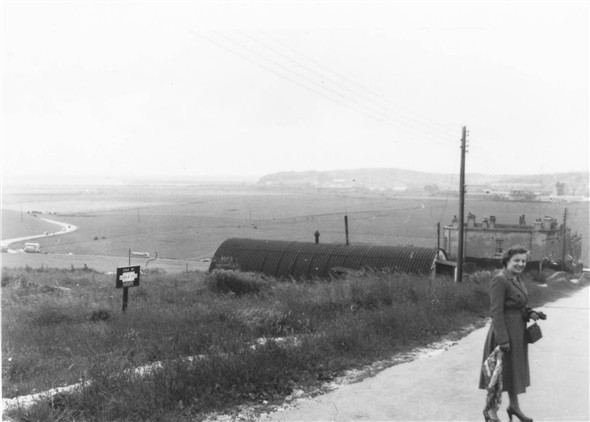 Photo:View from Mount Road in 1954 with Betty Lynch