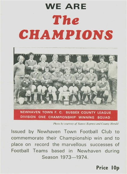 Photo:Commemorative cover for the 1973/74 season