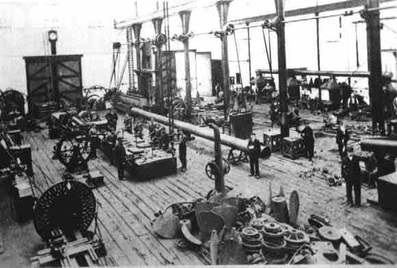 Photo:A scene of the inside of Newhaven marine Shop in the early 1900's.