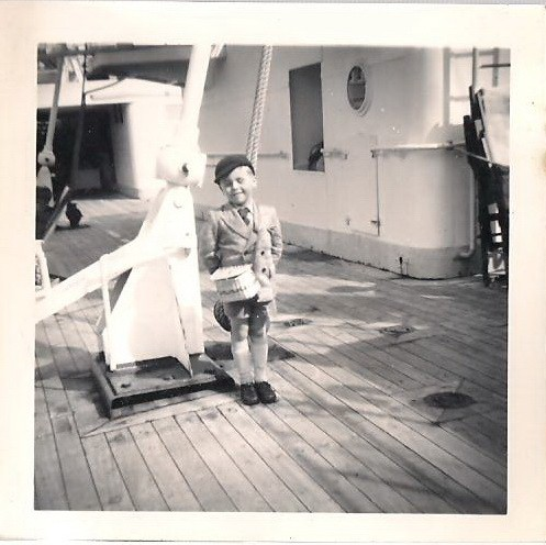 Photo:Me on board one of the Ferries at Newhaven circa 1956