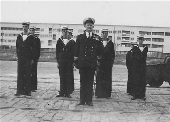 Photo:Year 1955 (spring visit to Dieppe in the new HMS Sussex tender HMS Fittleton-Curzon MS) Note: Officer I/C was Lt.Cdr Harris RNR, skipper of the tender whos brother OIC SCC Newhaven Lt.Cdr Harris.