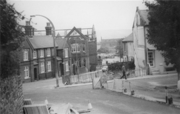 Photo:Dacra Road / South way / Demolition of the old Girls School / Meeching Road House's demolished - c1970