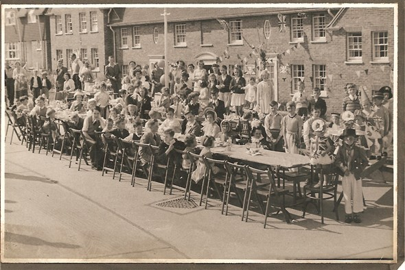 Photo:1953 The Coronation Party in Southdown Road