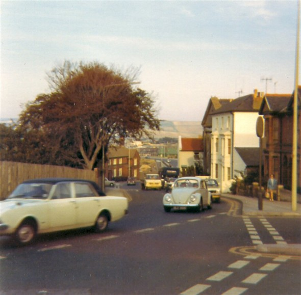 Photo:Southway, taken from outside the Elim Church