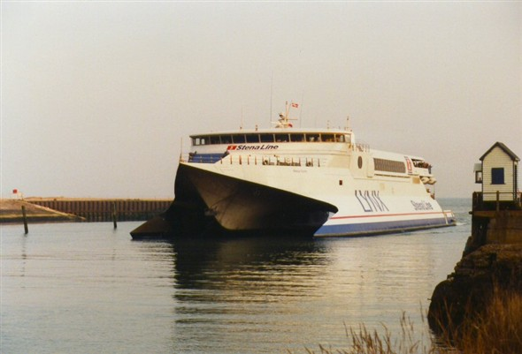Photo:Our first fast ferry, Stena Lynx